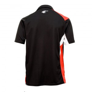 POLO TEMPO - Black-Red-White - dos